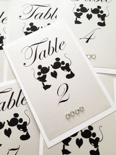 Mickey Mouse Table Numbers Disney theme weddings by Wedsclusive More #DisneyWeddingIdeas