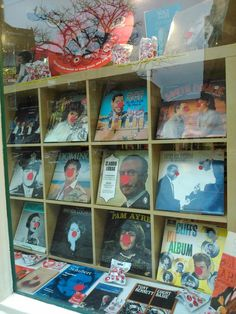 The Red Nose Day shop window from Oxfam Newport!