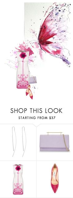 """""""The artful butterfly"""" by sharmarie ❤ liked on Polyvore featuring M2Malletier, Versace and Jimmy Choo"""