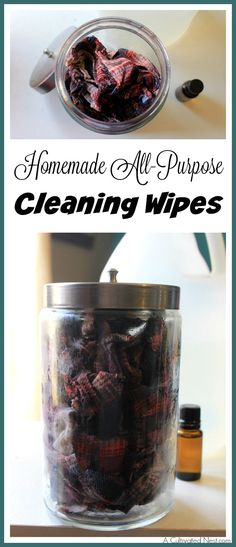 Save money, clean your home, and keep your family safe from chemicals all at the same time by making these homemade all-purpose cleaning wipes! | DIY cleaning recipes | cleaning tips