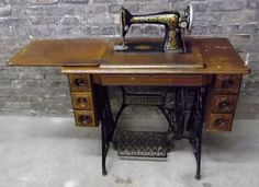 Antique Singer sewing machine treadle