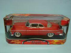 Motor Max American Graffiti 1955 Chrysler C300 Cherry Red Premium Metal Die Cast 1/18 Car