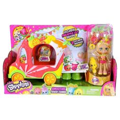 """Shopkins Smoothie Truck with Shoppie Pineapple Lily Doll <a class=""""pintag searchlink"""" data-query=""""%23MooseToys"""" data-type=""""hashtag"""" href=""""/search/?q=%23MooseToys&rs=hashtag"""" rel=""""nofollow"""" title=""""#MooseToys search Pinterest"""">#MooseToys</a> <a class=""""pintag"""" href=""""/explore/Dolls/"""" title=""""#Dolls explore Pinterest"""">#Dolls</a>"""