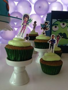 Miles from Tomorrowland birthday party cupcakes! See more party planning ideas at CatchMyParty.com!