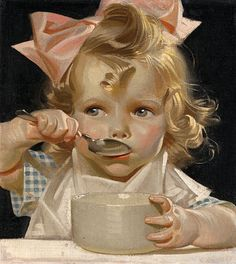 Joseph Christian Leyendecker - Kellogg's Kids - A part of the collection is actually exposed at the Haggin Museum (Stockon, San Joaquin County, California) with others of the artist works. Images Vintage, Art Vintage, Vintage Pictures, Vintage Prints, Vintage Posters, Moda Vintage, Decoupage Vintage, Jc Leyendecker, Poses References