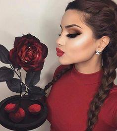 Dal make-up a cuore a labbra sensuali: San Valentino is coming! Day Makeup Looks, Love Makeup, Makeup Goals, Makeup Tips, Makeup Ideas, Beauty Make-up, Hair Beauty, Makeup On Fleek, Hair Makeup