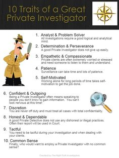 10 traits, skills and competencies you need to have to be a great Private Investigator. Creative Writing, Writing Tips, Writing Prompts, Forensic Psychology, Forensic Science, Detective, Criminal Profiling, Handwriting Analysis, How To Read People