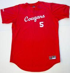 VTG Cougars Jersey XL Red Nike #5 Rare EUC Washington State WSU #Nike #Cougars