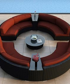 Look at this Henna Seven-Piece All-Weather Urbana Eclipse Sectional Set on #zulily today!
