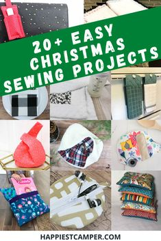20 Easy Christmas Sewing Projects you can make as Gifts. These are amazing and so adorable! Simple sewing projects that you can give as Christmas gifts. I love that all of them have complete sewing tutorials with pictures. The majority of them are simple to sew projects that make a great Christmas gift. These are Easy Sewing Projects anyone can make! 20 Easy Christmas Sewing Projects you can make as Gifts! #sewing #Christmasgifts #sewingprojects #christmasgiftsdiy #diychristmasgifts