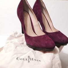 Cole Haan Suede Pump New with box and dust bags Cole Haan Shoes Heels