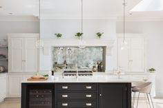 Open Plan Luxury Kitchen, London - Humphrey Munson Kitchens I like that! Contemporary Open Plan Kitchens, Small Open Plan Kitchens, Open Plan Kitchen Diner, Kitchen Design Open, Luxury Kitchen Design, Modern Farmhouse Kitchens, Luxury Kitchens, Hidden Kitchen, New Kitchen