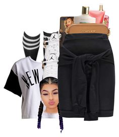 """come on let's go we gone let them know how it really go down~ Bre"" by shilohluvsu ❤ liked on Polyvore featuring :CHOCOOLATE, Victoria's Secret, Michael Kors and Boohoo"