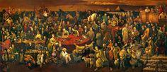"""""""Discussing the Divine Comedy with Dante"""" - Dai Dudu, Li Tiezi e Zhang An. A história do mundo em uma imagem ;-)"""