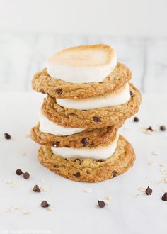 Oatmeal Chocolate Chip S'more Cookie