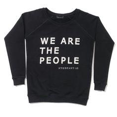 Stedfast London Black we are the people sweatshirt woman