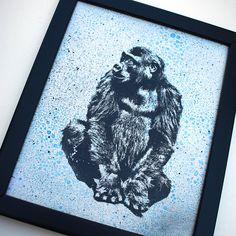 Gorilla Art, Wildlife Wall Art, Animal Art, Wood Art, Animal Lover Gift, Home Decor, Housewarming Gift, Gift under 25, Affordable Art