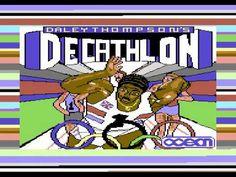 Daley Thompson's Decathlon title screen on C64