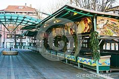 Fish market place and Christmas decorations during winter holidays, in Treviso city, in Veneto, Italy. Holiday City, Christmas In Italy, Winter Holidays, Fair Grounds, Christmas Decorations, Fish, Stock Photos, Marketing, Places