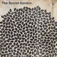 the secrect garden #pattern #leaves #black&white