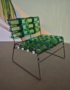plastic bottle furniture | Plastic bottle chair