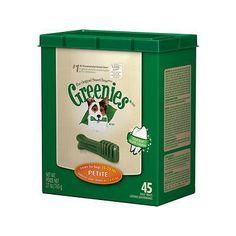 Greenies Dental Petite Dog Treats, 27-oz box, 45 count