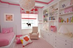 I could see this in one of the girl's rooms.  Notice the pink wood trim on the ceiling.