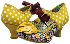 Poetic Licence by Irregular Choice Summer Sands - Scarpe con Tacco, Donna, Multicolore (Mustard), 39 EU