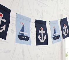 Nautical Sailboat Garland