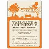 Tailgating Party Invitation OR Birthday Party Invitation - Football Pa ...