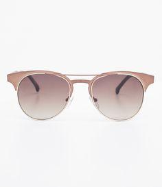 aadabb86605c2 Óculos de sol Modelo redondo Hastes em acetato veludo Lentes marrom degradê  Proteção contra raios UVA