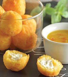Croquetas de polenta con queso