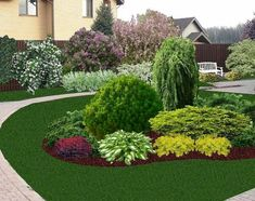 Front House Landscaping, Outdoor Landscaping, Outdoor Gardens, Landscaping Ideas, House Landscape, Landscape Design, Garden Planters, Garden Beds, Evergreen Garden