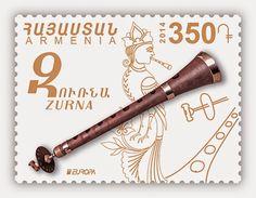 europa stamps: Armenia 2014