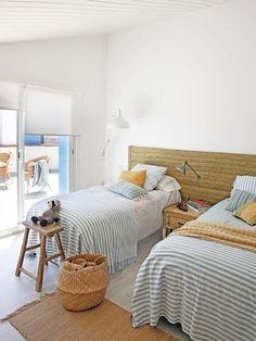 modern mediterranean homes Beach House Bedroom, Beach House Decor, Home Bedroom, Bedroom Decor, Bedrooms, Luxury Mediterranean Homes, Mediterranean Bedroom, Mediterranean Design, Home Staging