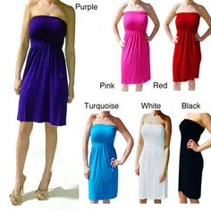 Tabeez Women's Seamless Stretch Tube Dress | Overstock.com