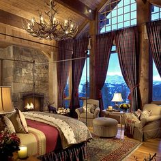 @Katie Saldivar, Love this rustic bedroom.  I love the green and wine together!