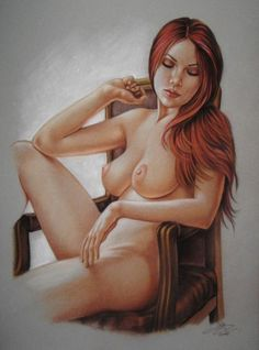 Catawiki, pagina di aste on line  Pin-up art  Sly - Relaxation Magic - 2016