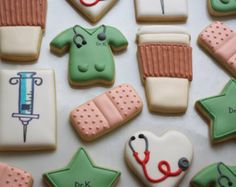 decorated nurse cookies - Google Search