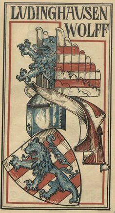 von Ludinghausen genannt Wolff (German) -- Baltischer Wappen-Calendar 1902 (Baltic States Coats of Arms Calendar) published in Riga by E Bruhns with illustrations by M. Kortmann.