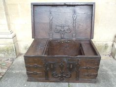 A Small & Well Proportioned Oak Gothic Chest 16th Century
