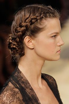 Fine Updo The Characters And French Braids On Pinterest Hairstyles For Women Draintrainus