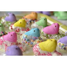 White Chocolate Dipped Peeps From @YourHomeBasedMom - Check out more Peeps at see.walmart.com/peeps?cid=lrp.428.3398