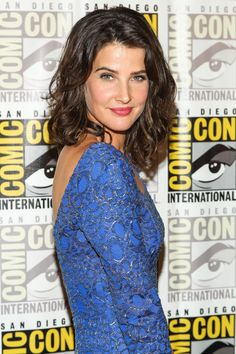 Cobie Smulders at San Diego's 2013 Comic Con #curly #wavy #hairstyle