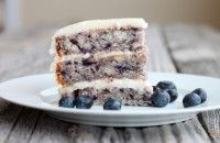 Moist Blueberry Cake with Light Lemon Icing - I Adore Food!