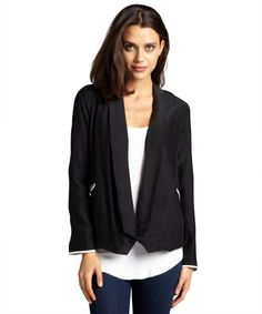 Designer Clothes, Shoes & Bags for Women White Tux Jacket, Fast Fashion, Back To Black, Black Silk, New Look, Blazer, Hoodies, Contrast, Jackets