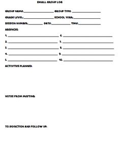Referral Template. forms for individual case notes small group ...