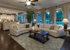 #Relaxation at it's finest! This #Pulte living room offers space and style.