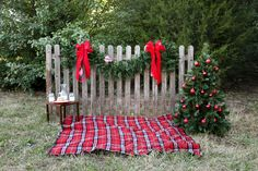 I like the little table with the cookies and milk :) Christmas photo backdrop background