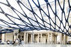 Pavilion made from 300 pairs of blue jeans just popped up in Milan